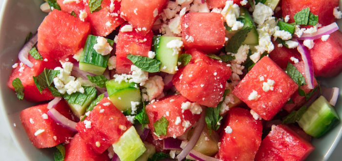 watermelon and feta salad 4th of July